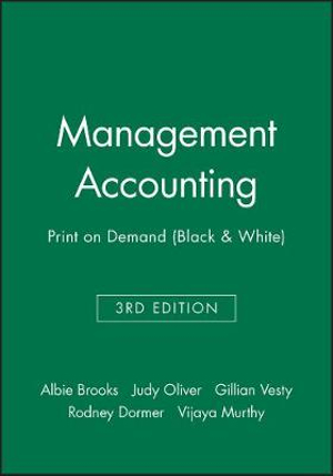 Cover of Management Accounting 3E Print on Demand (Black and White)