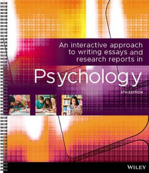 Cover of An Interactive Approach Writing Essays Research Reports in Psychology