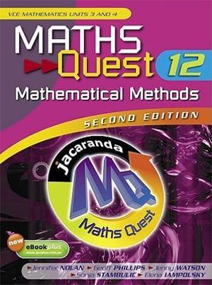 Cover of Maths Quest 12