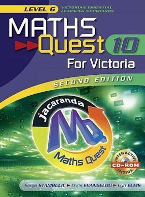 Cover of Maths Quest Ten for Victoria