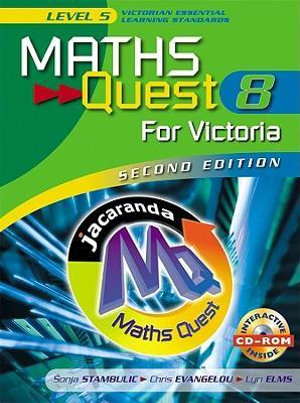 Cover of Maths Quest 8 for Victoria