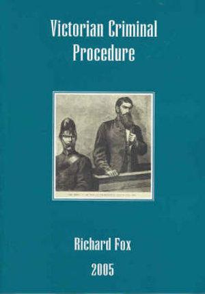 Cover of Victorian Criminal Procedure