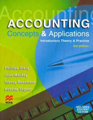 Cover of Accounting Concepts and Applications
