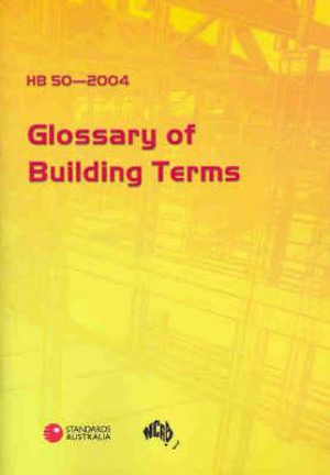 Cover of Glossary of Building Terms