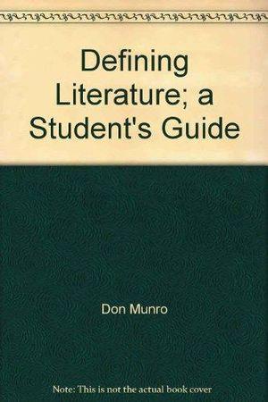 Cover of Defining Literature
