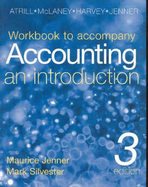 Cover of Accounting an Introduction Workbook