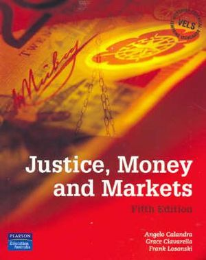 Cover of Justice, Money and Markets