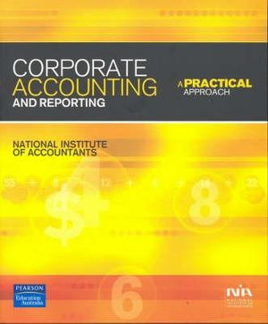 Cover of Corporate Accounting and Reporting