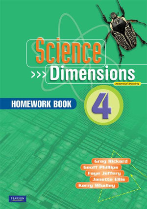 Cover of Science Dimensions 4 Homework Book