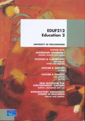 Cover of EDUF212 Education 2