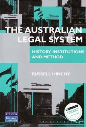 Cover of The Australian Legal System: History, Institutions and Method