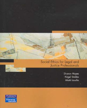 Cover of Social Ethics for Legal and Justice Professionals