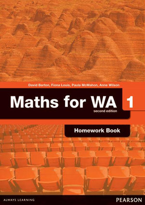 Cover of Maths for WA 1 Homework Book
