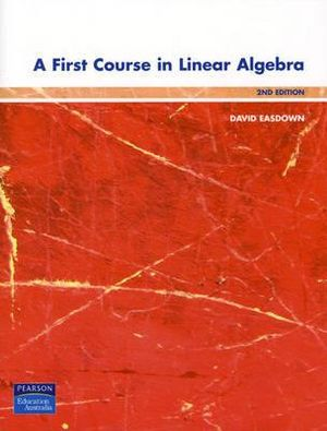 Cover of A First Course in Linear Algebra with DVD