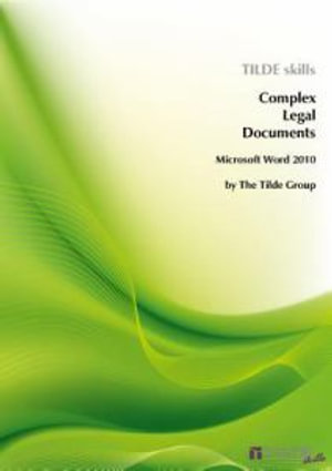 Cover of Be Competent in Complex Legal Documents