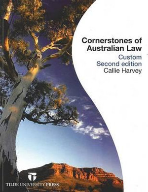 Cover of Cornerstones of Australian Law (custom)