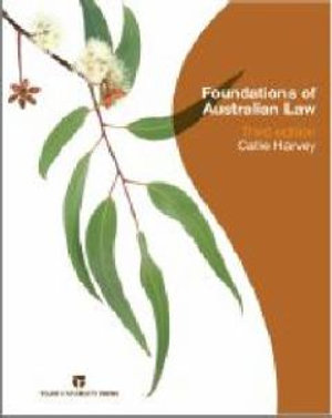 Cover of Foundations of Australian Law