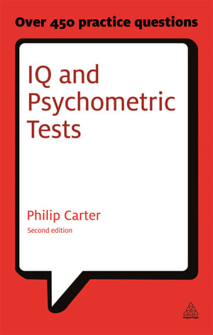 Cover of IQ and Psychometric Tests