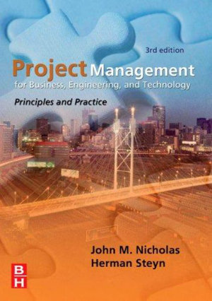 Cover of Project Management for Business, Engineering, and Technology