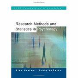 Cover of Research Methods and Statistics in Psychology