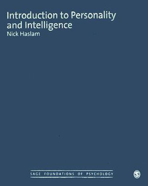 Cover of Introduction to Personality and Intelligence