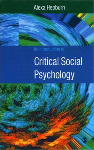 Cover of An Introduction to Critical Social Psychology