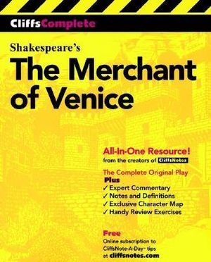Cover of CliffsComplete The Merchant of Venice
