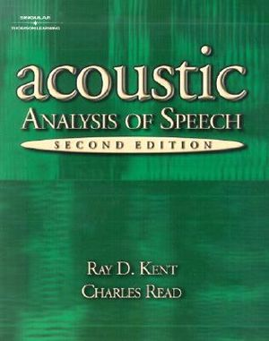 Cover of The acoustic analysis of speech