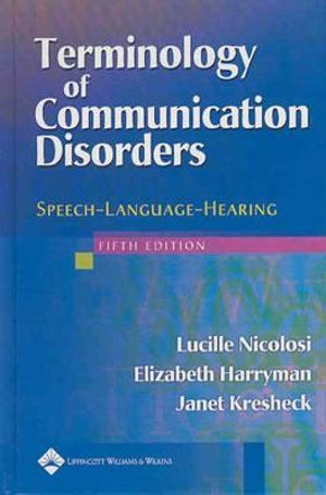 Cover of Terminology of Communication Disorders