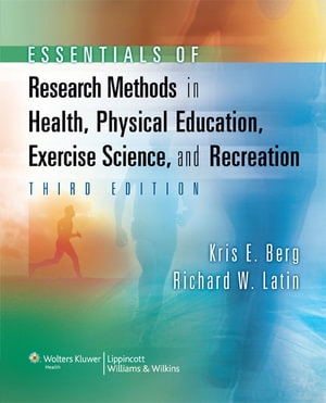 Cover of Essentials of Research Methods in Health, Physical Education,   Exercise Science, and Recreation