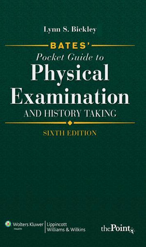 Cover of Bates' Pocket Guide to Physical Examination and History Taking