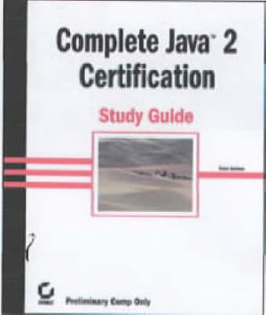 Cover of Complete Java 2 Certification Study Guide