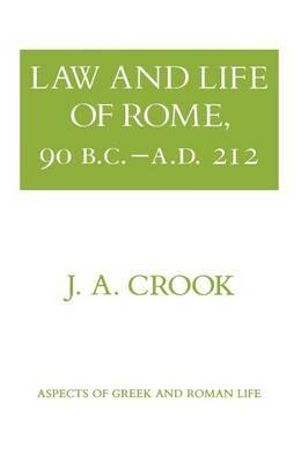 Cover of Law and Life of Rome