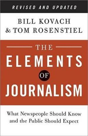 Cover of The Elements of Journalism