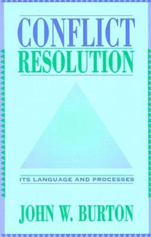 Cover of Conflict Resolution