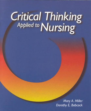 Cover of Critical Thinking Applied to Nursing