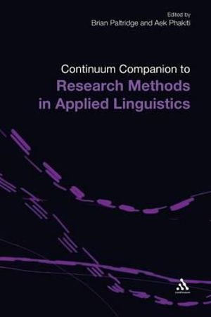 Cover of Continuum Companion to Research Methods in Applied Linguistics