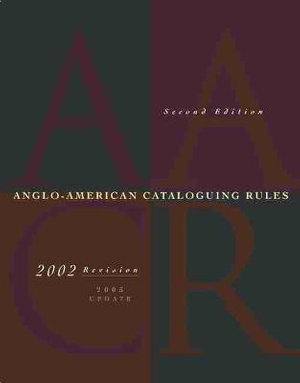 Cover of Anglo-American Cataloguing Rules