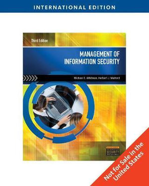 Cover of Management of Information Security