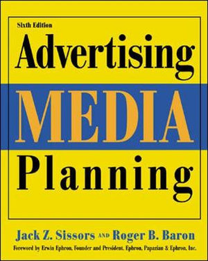 Cover of Advertising Media Planning, Sixth Edition