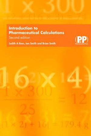 Cover of Introduction to Pharmaceutical Calculations