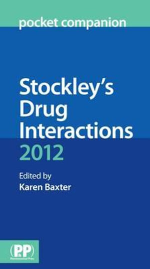 Cover of Stockley's Drug Interactions Pocket Companion 2012