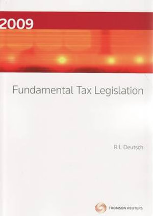 Cover of Fundamental Tax Legislation 2009