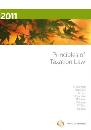 Cover of Principles of Taxation Law 2011