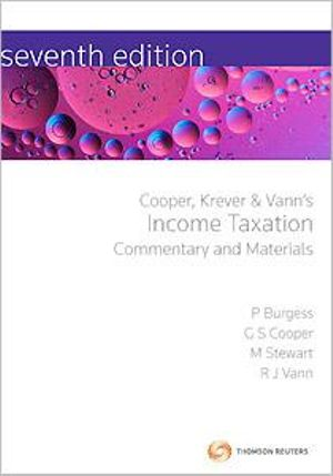 Cover of Cooper, Krever and Vann's Income Taxation