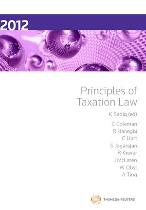 Cover of Principles of Taxation Law 2012