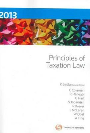 Cover of Principles of Taxation Law 2013