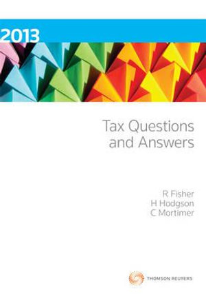 Cover of Tax Questions and Answers 2013