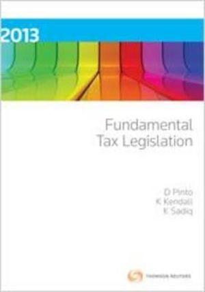 Cover of Fundamental Tax Legislation 2013