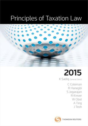 Cover of Principles of Taxation Law 2015